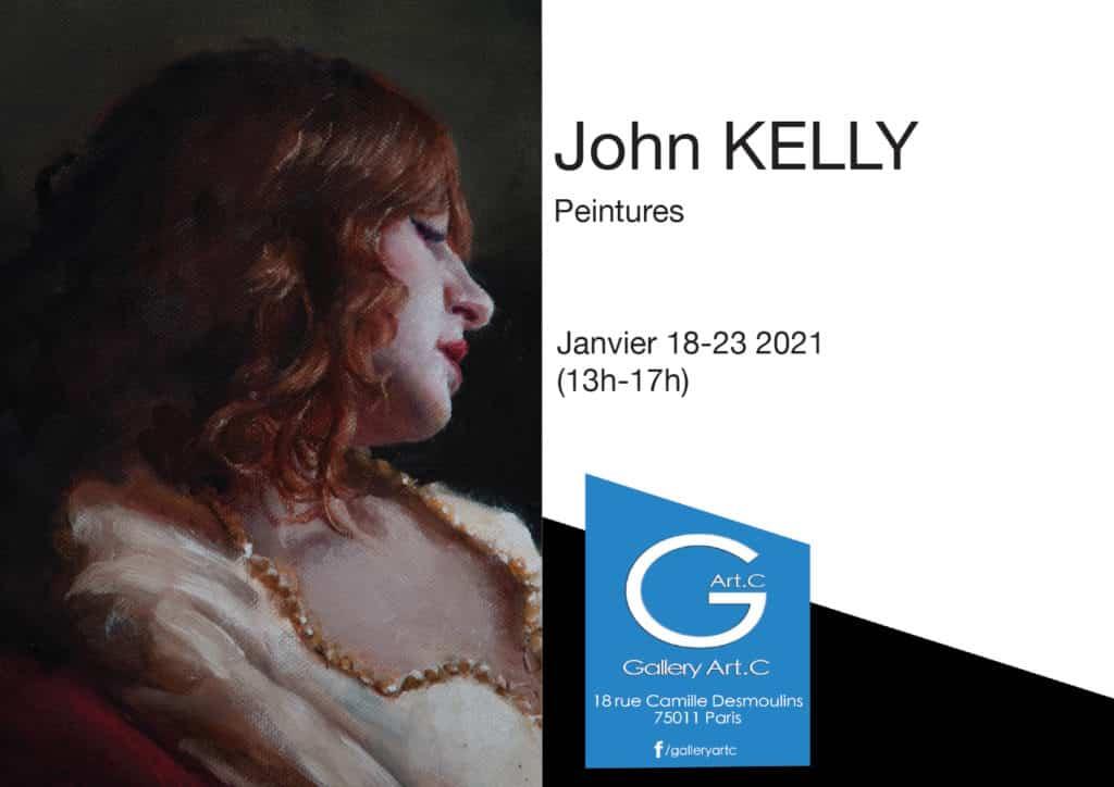 Invitation à l'exposition de peintures de John Kelly à la Gallery Art.C